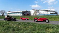 Mille Miglia: 450 auto storiche si sfideranno in prove cronometrate sulla pista del Museo Alfa Romeo