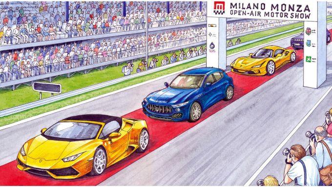 MIMO 2021: il corteo verso l'Autodromo di Monza