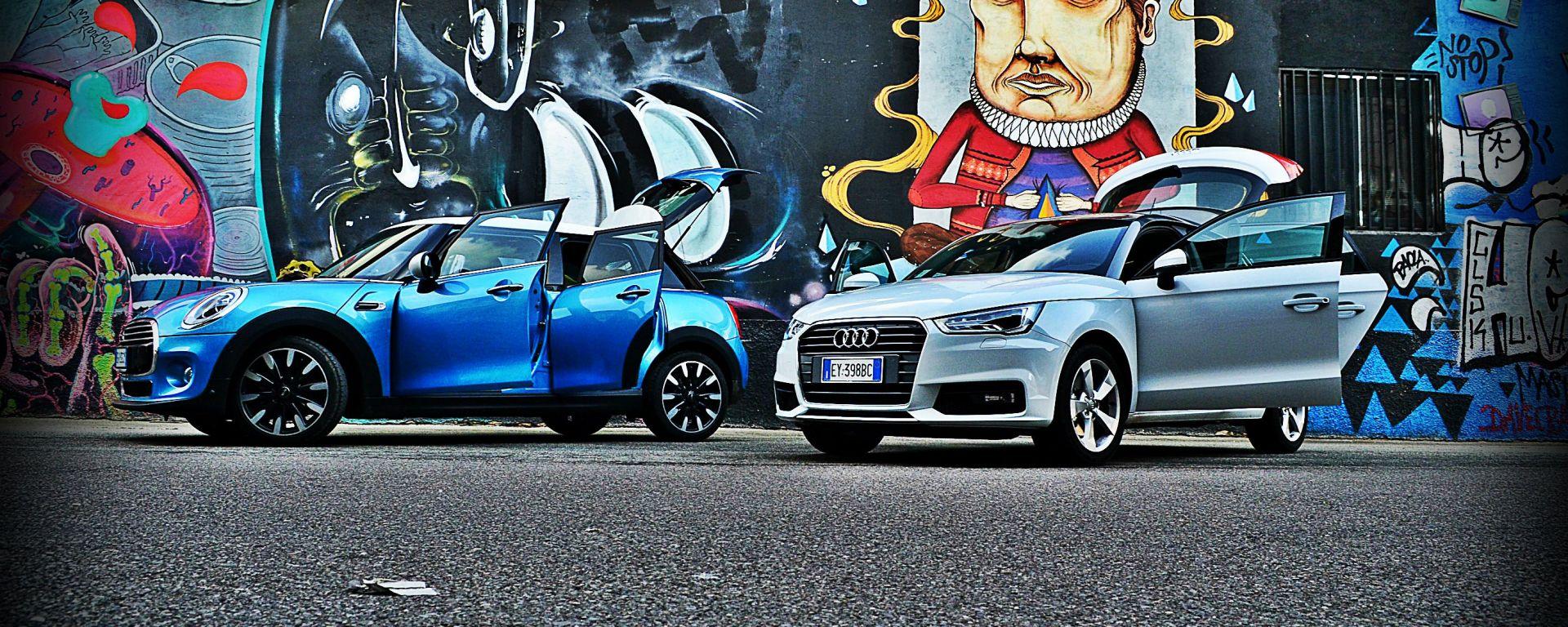 Mini 5 porte vs Audi A1 Sportback