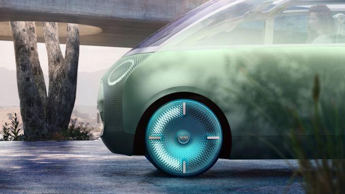 Mini Vision Urbanaut: particolare delle ruote a