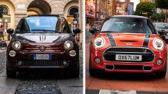 Mini vs Fiat 500, l'eterna sfida