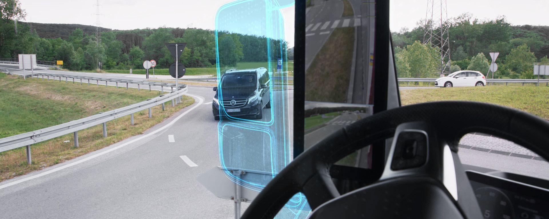 MirrorCam su Mercedes Actros