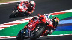 Misano 2020, Pecco Bagnaia davanti ad Andrea Dovizioso (Ducati)