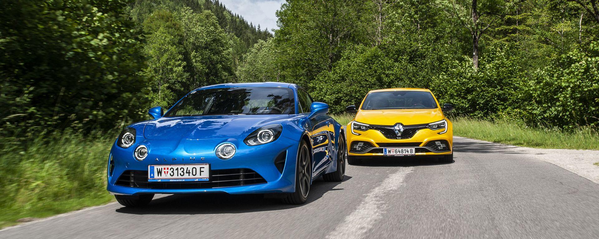 Modelli sportivi Renault: da R.S. ad Alpine: la A110 contro la Mégane R.S.