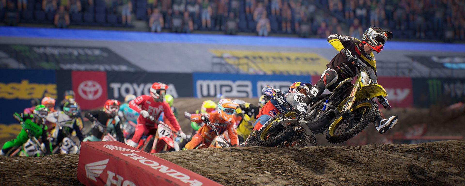 Momenti di gara concitati in Monster Energy Supercross - The Official Videogame 3