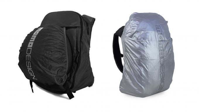 MomoDesign MD One Icon Backpack: può contenere un casco e ha la copertura impermeabile