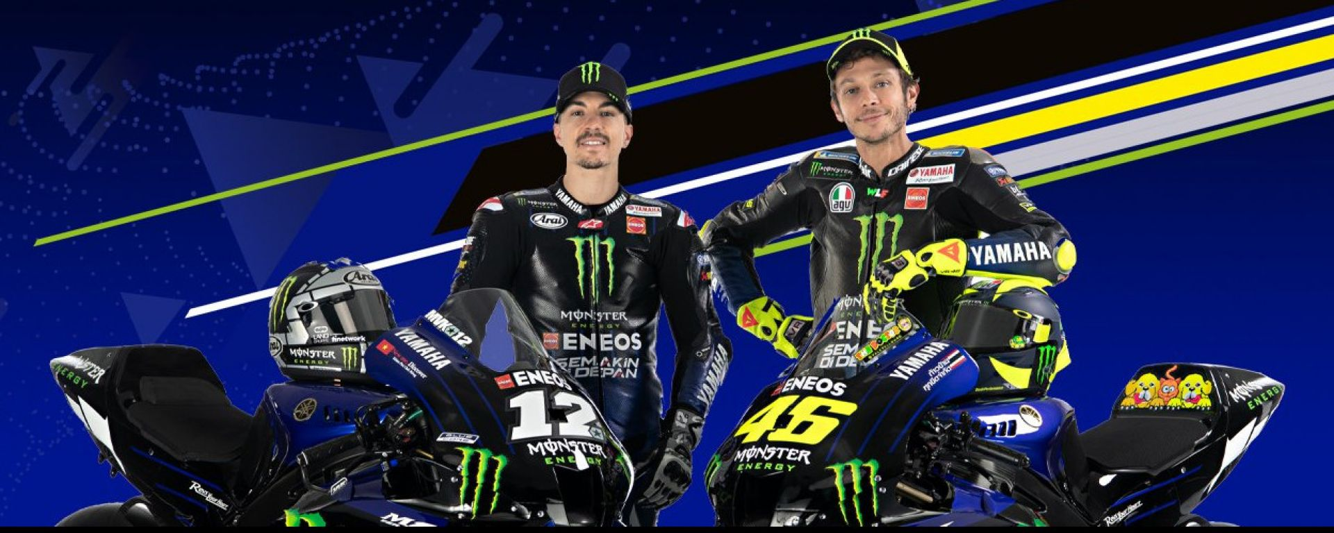 Monster Energy Yamaha Factory Racing 2020, Maverick Vinales e Valentino Rossi
