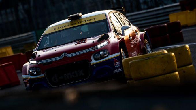 Monza Rally Show 2019, la Citroen C3 R5 di Marciello nelle prime prove in pista