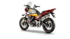 Moto Guzzi V85: il telaietto posteriore agevola il montaggio delle valigie