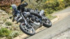 Moto Guzzi V85 TT: una fase della prova su strada