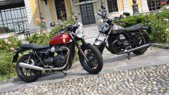 Moto Guzzi V9 Bobber e Triumph Street Twin