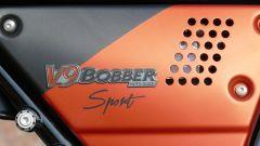 Moto Guzzi V9 Bobber Sport: dettaglio del fianchetto