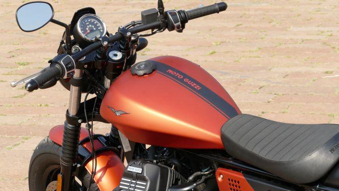 Moto Guzzi V9 Bobber Sport: il serbatoio