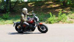Moto Guzzi V9 Bobber Sport: un momento del test ride