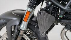 Moto Morini Corsaro80, particolare in carbonio