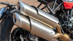 Moto Morini Milano: dettaglio dello scarico sdoppiato