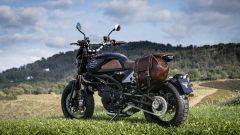 Moto Morini Super Scrambler 1200: 3/4 posteriore con borsa optional