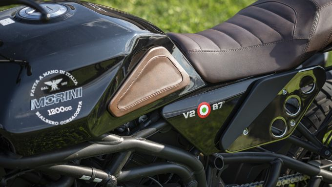 Moto Morini Super Scrambler 1200: il livello di finiture è davvero altissimo