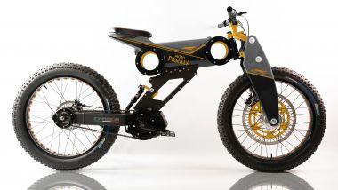 Moto Parilla Carbon, allestimento Factory Orange