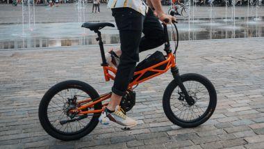 Moto Parilla Trilix, foldable da città con telaio in tralicci d'alluminio