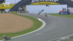 Moto2, Ahi Luca Marini! Bruttissima caduta in FP2