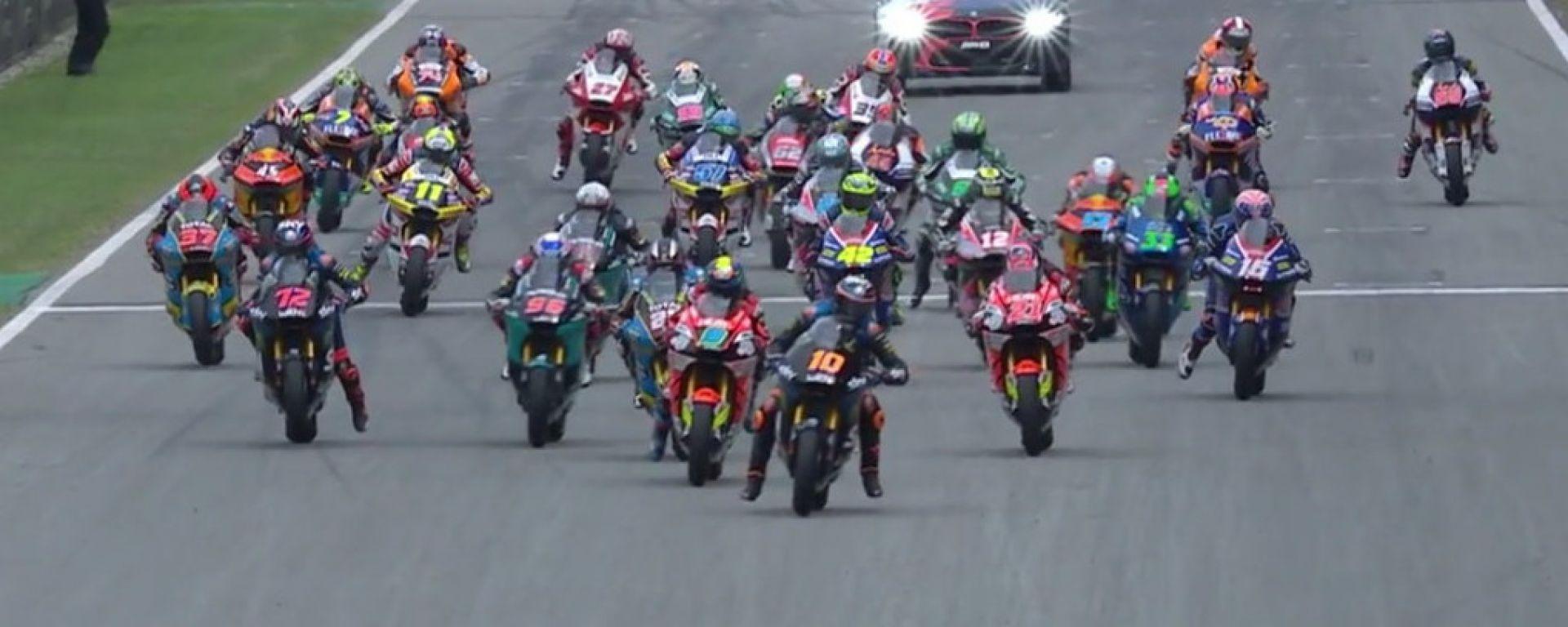 Moto2 Catalunya 2020, la partenza