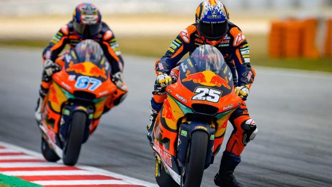 Moto2 Catalunya 2021, Montmelò: Raul Fernandez e Remy Gardner (Team KTM Ajo)