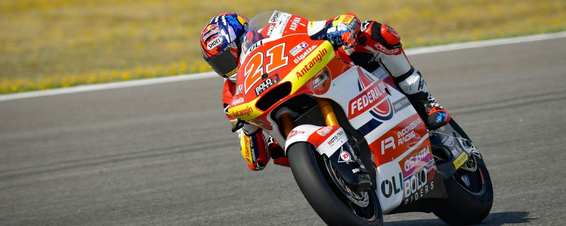 Moto2 Spagna 2021, Jerez: Fabio Di Giannantonio (Kalex, Federal Oil Gresini Moto2)