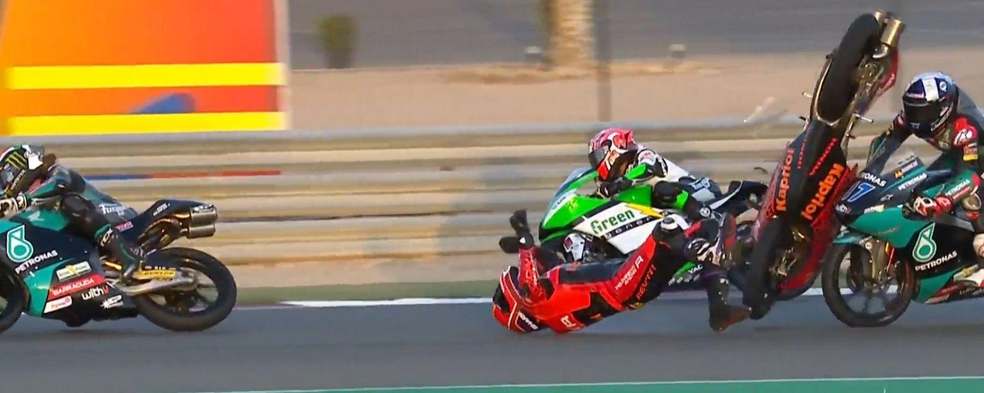 Moto3, GP Doha: l'incidente che ha coinvolto John McPhee