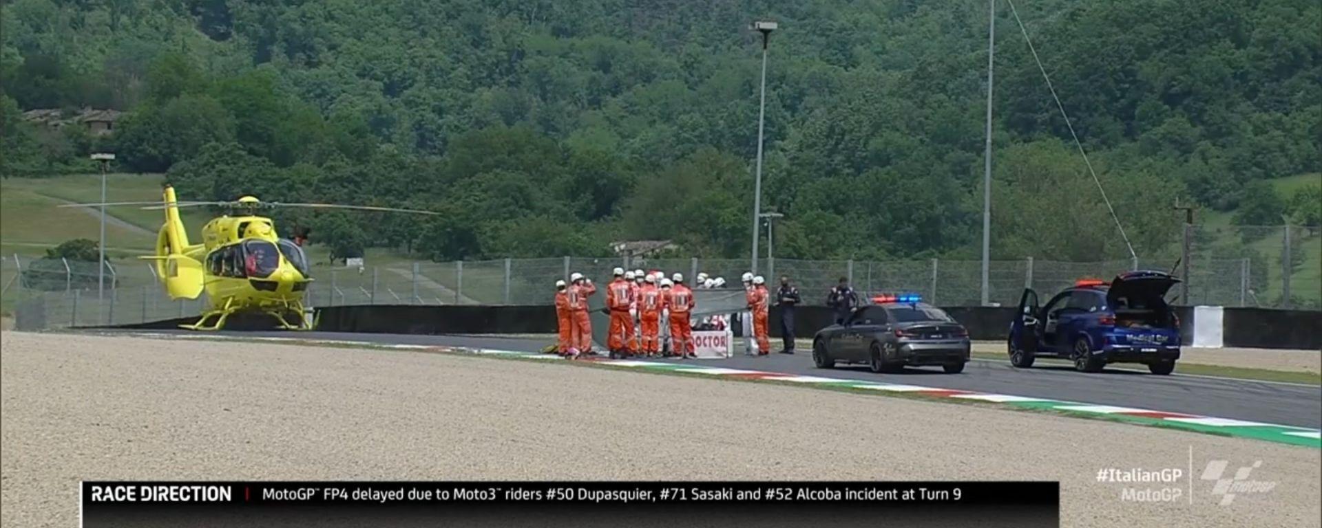 Moto3, GP Italia 2021: i soccorsi a Dupasquier