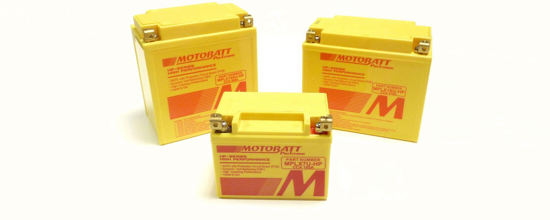 Motobatt Pro Lithium HP sono  importate e distribuite da Bergamaschi