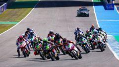 MotoE Spagna 2021, Jerez: la partenza della gara di FIM MotoE World Cup
