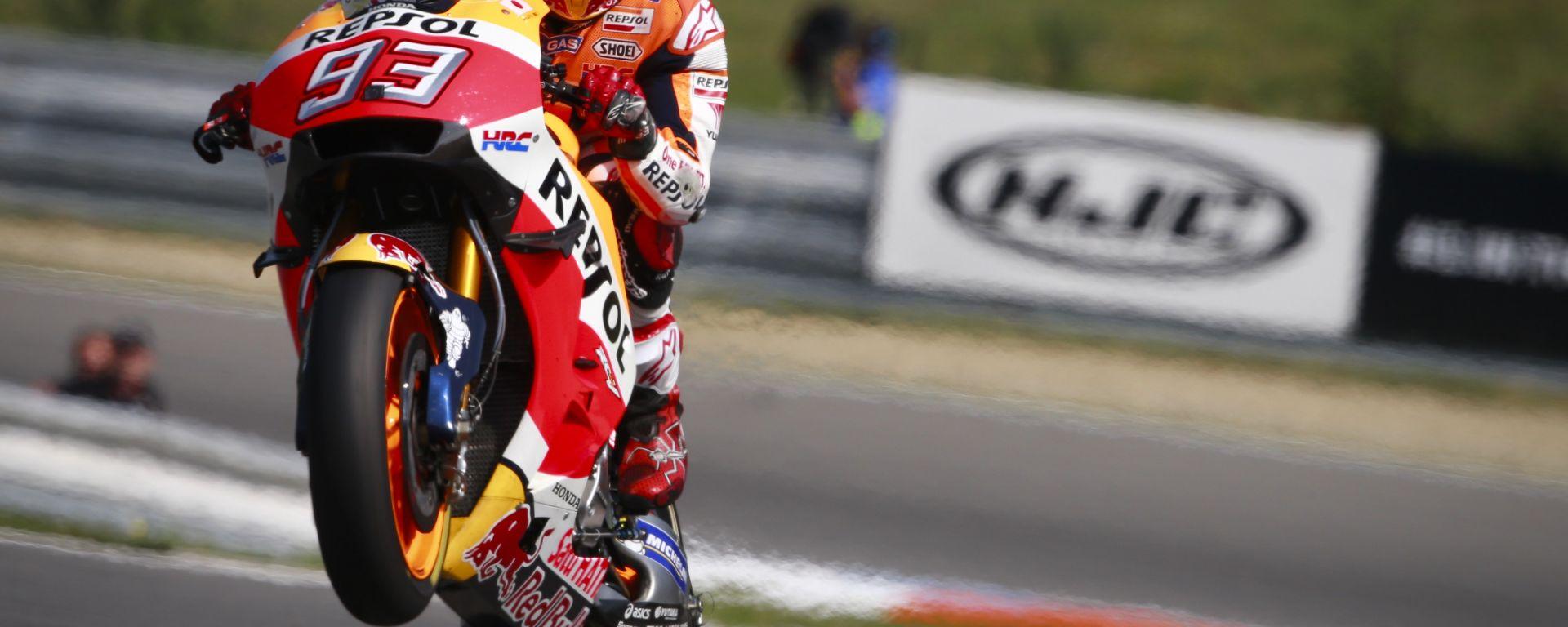 MotoGP 2016 Repubblica Ceca: Marquez in Pole a Brno davanti a Lorenzo e Iannone