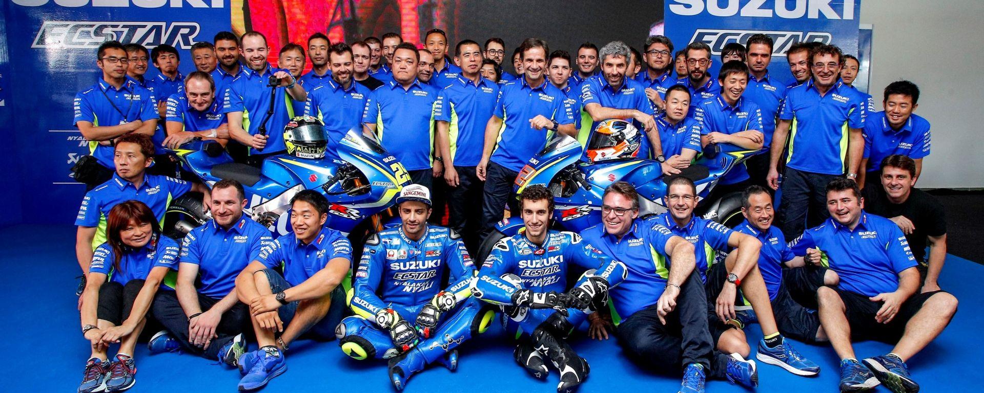 MOTOGP 2017: Andrea Iannone e Alex Rins hanno presentato la nuova Suzuki GSX-RR