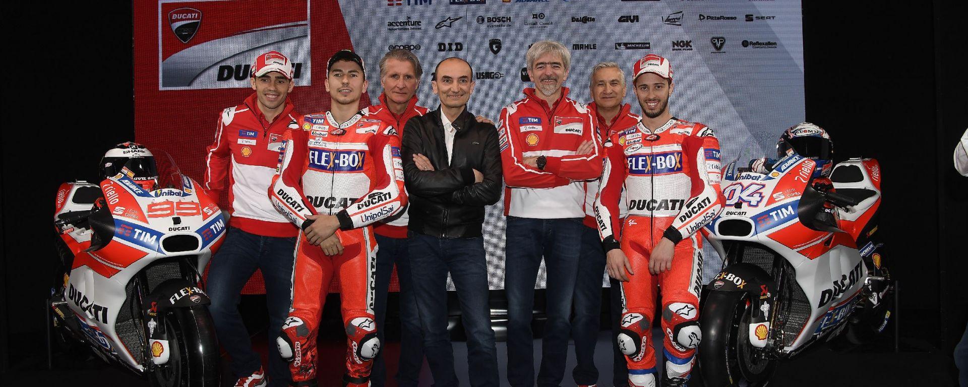 MotoGP 2017: Ducati apre la Stagione presentato il Reparto Corse 2017