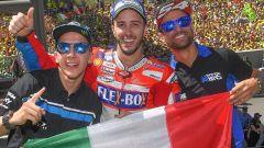 MotoGP 2017, Mugello - il tris tricolore di Dovizioso, Pasini e Migno