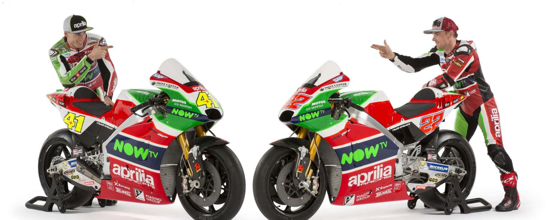 MotoGP 2017: presentato l'Aprilia Racing Team Gresini