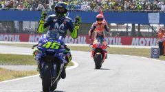 MotoGP 2018, GP Olanda, Rossi torna ai box seguito dal vincitore Marquez