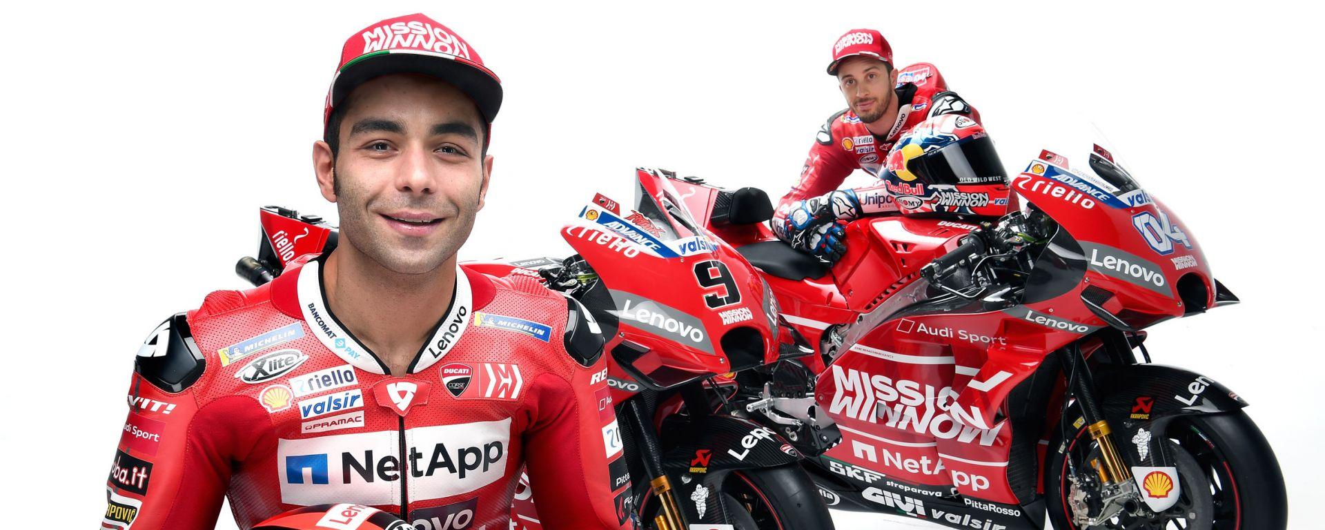 """MotoGP 2019, Dovi scommette su Petrucci: """"Che potenziale!"""""""