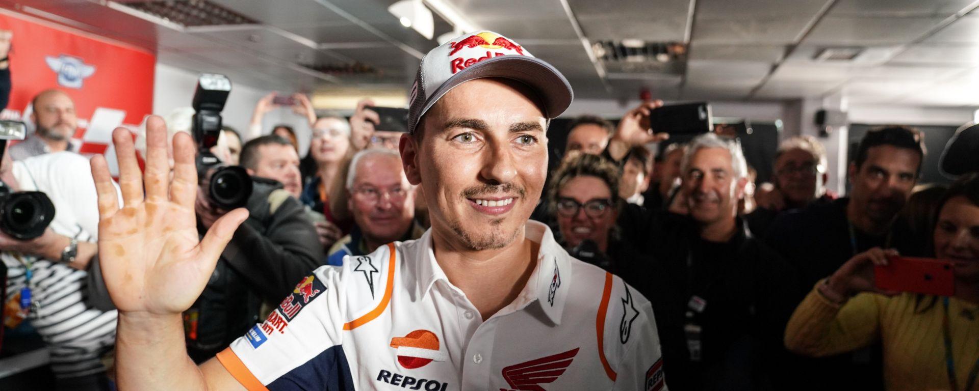 MotoGP 2019: Jorge Lorenzo al termine della conferenza stampa in cui ha annunciato l'addio alle corse
