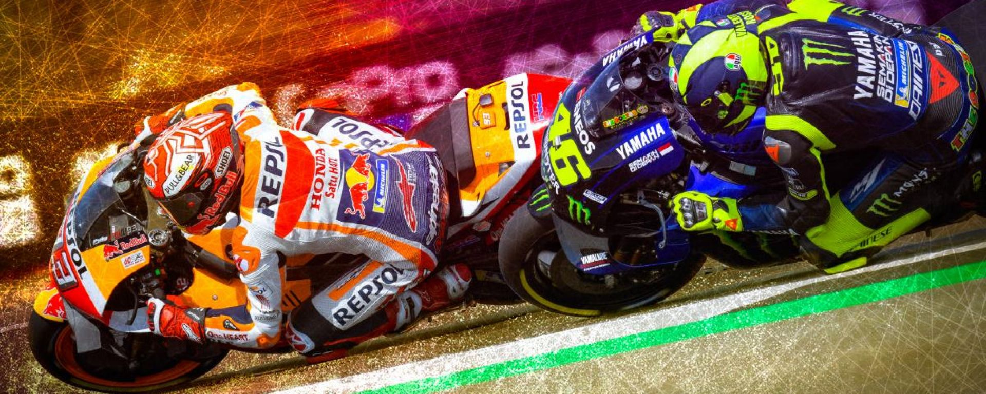 MotoGP 2019, Marc Marquez (Honda) vs Valentino Rossi (Yamaha)