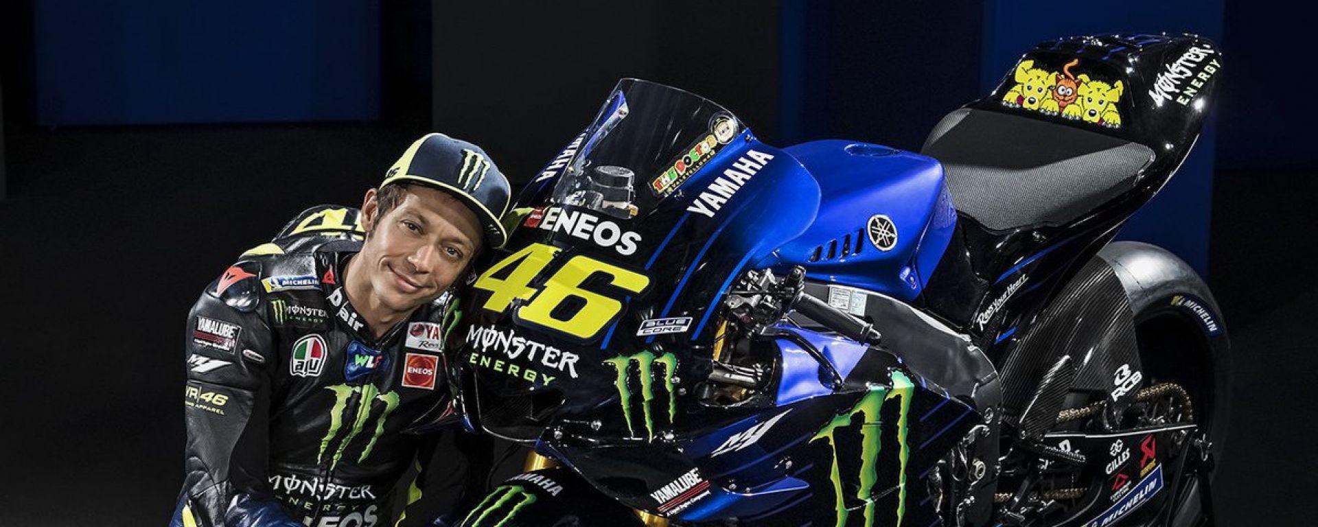MotoGP 2019, presentanta la M1 di Rossi: video, gallery e dichiarazioni