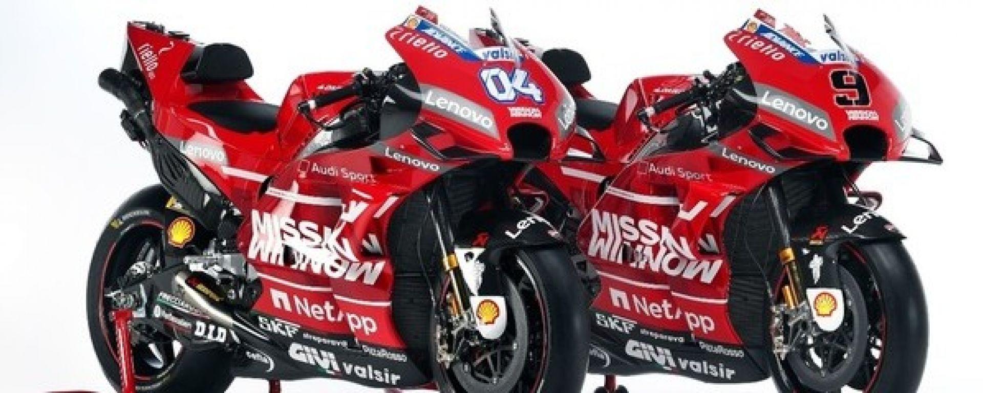 Presentata la Ducati GP19. Video, gallery e dichiarazioni