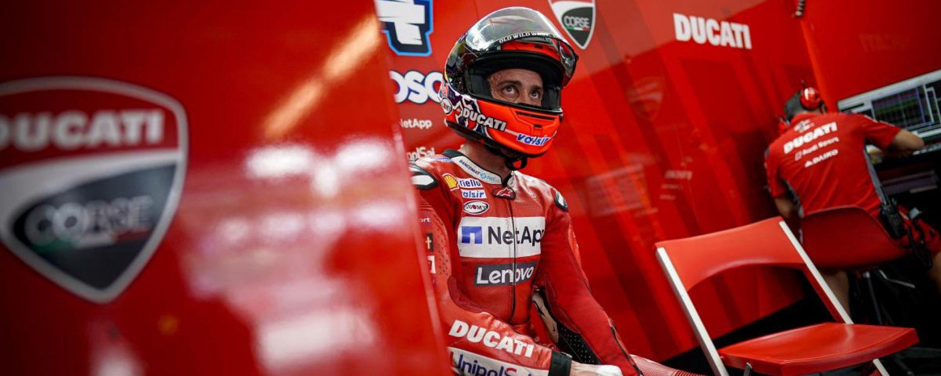 MotoGP 2020, Andrea Dovizioso nel box Ducati Corse