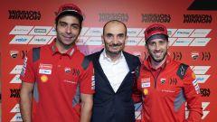 MotoGP 2020, Mission Winnow Ducati Corse, Ducati Desmosedici GP20, Danilo Petrucci, Claudio Domenicali e Andrea Dovizioso