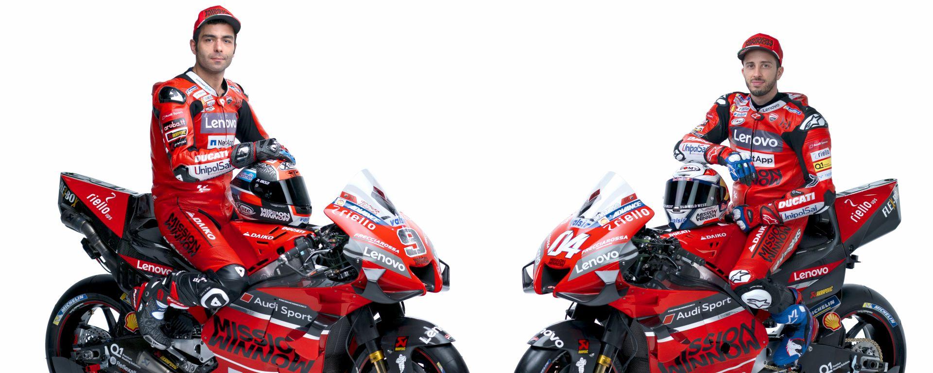 MotoGP 2020, Mission Winnow Ducati Corse, Ducati Desmosedici GP20, Danilo Petrucci e Andrea Dovizioso