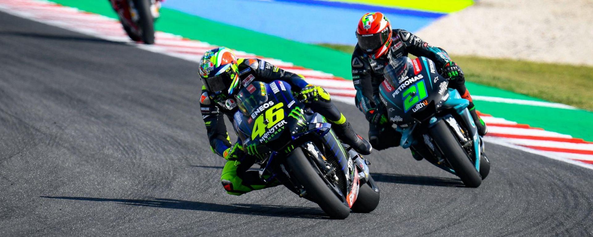 MotoGP 2020, Valentino Rossi e Franco Morbidelli (Yamaha)