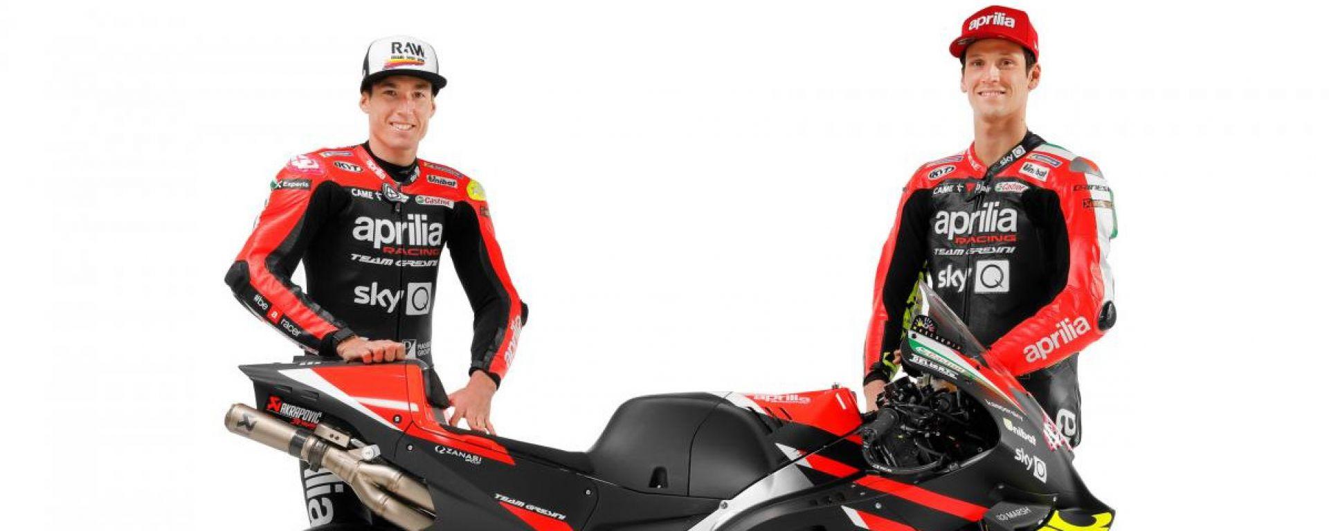 MotoGP 2021: Aleix Espargaro e Lorenzo Savadori con l'Aprilia RS-GP