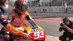 Marquez è tornato in pista: test privato a Barcellona - VIDEO