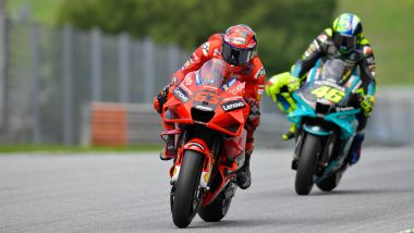 MotoGP 2021: Pecco Bagnaia e Valentino Rossi
